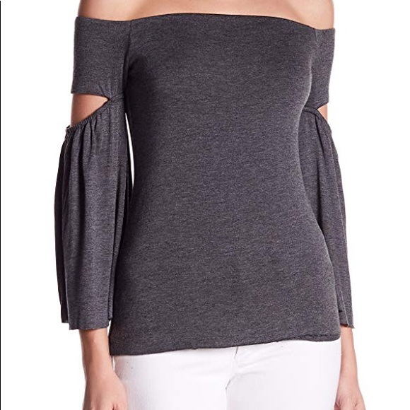 7b0696c1e6a87 Bailey 44 Sweaters - NEW Bailey 44 Cut-out Bell Sleeve Gray Sweater Top